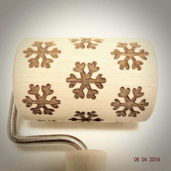 Nudelholz Schneeflocke